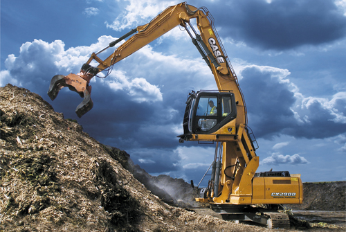Case CX290D is the new material handling excavator available from Dennis Barnfield Ltd