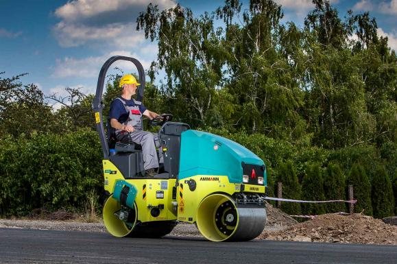Ammann ARX12 Tandem Roller available from Dennis Barnfield Ltd. Plant machinery sales in the North West since 1964.