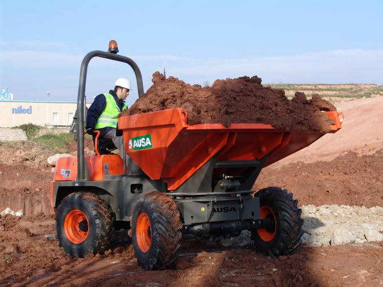 Ausa D400 Dumper available from Dennis Barnfield Ltd, plant machinery sales in the North West since 1964!