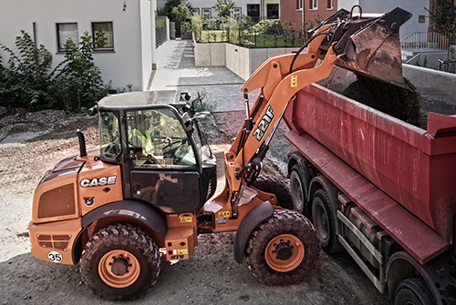 Case 221F Compact Wheel Loader available from Dennis Barnfield Ltd. Plant machinery sales in the North West.