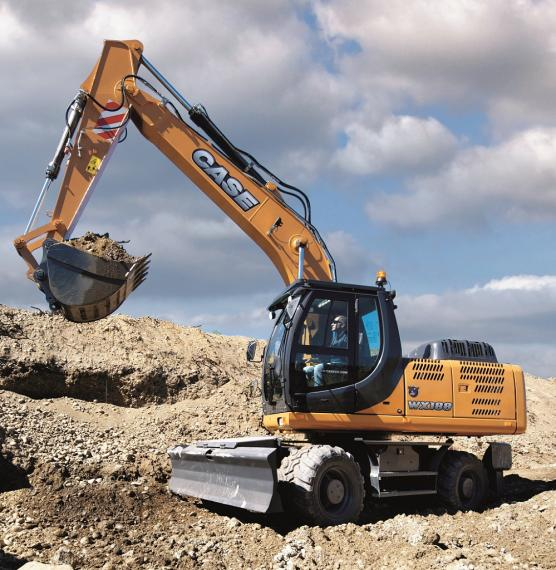 Case WX188 Wheeled Excavator available from Dennis Barnfield Ltd, plant machinery sales in the North West since 1964!