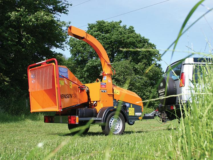 Jensen A530 Wheeled Chipper available from Dennis Barnfield Ltd, tracked chippers in Lancashire, Cumbria and the North West!