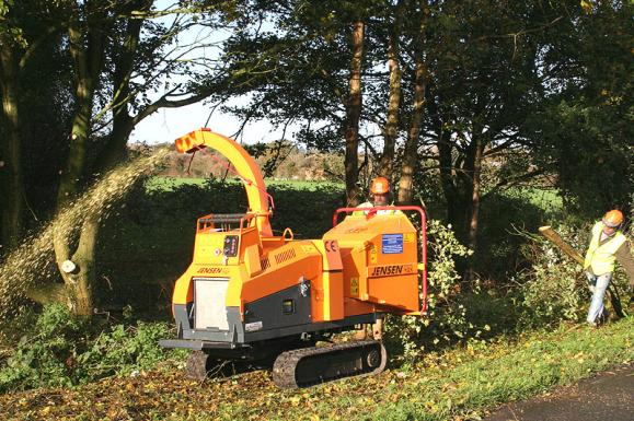 Jensen A540 Tracked Chipper available from Dennis Barnfield Ltd, tracked chippers in Lancashire, Cumbria and the North West!