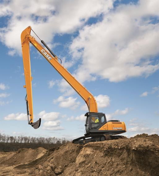 Case long reach excavator available from Dennis Barnfield Ltd. Long reach excavator in Lancashire, Cumbria and the North West.