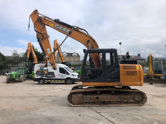 2015 Case CX130C Excavator Breaking