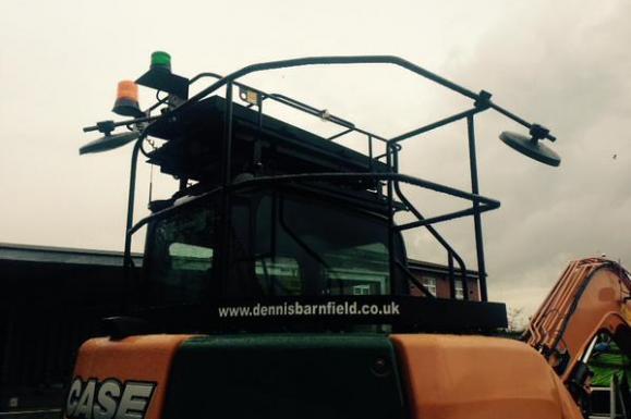 Excavator Safety Handrails