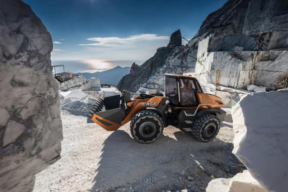 CASE Wheel Loader, CASE Shovel, Project TETRA, Methane Powered Construction Vehicle